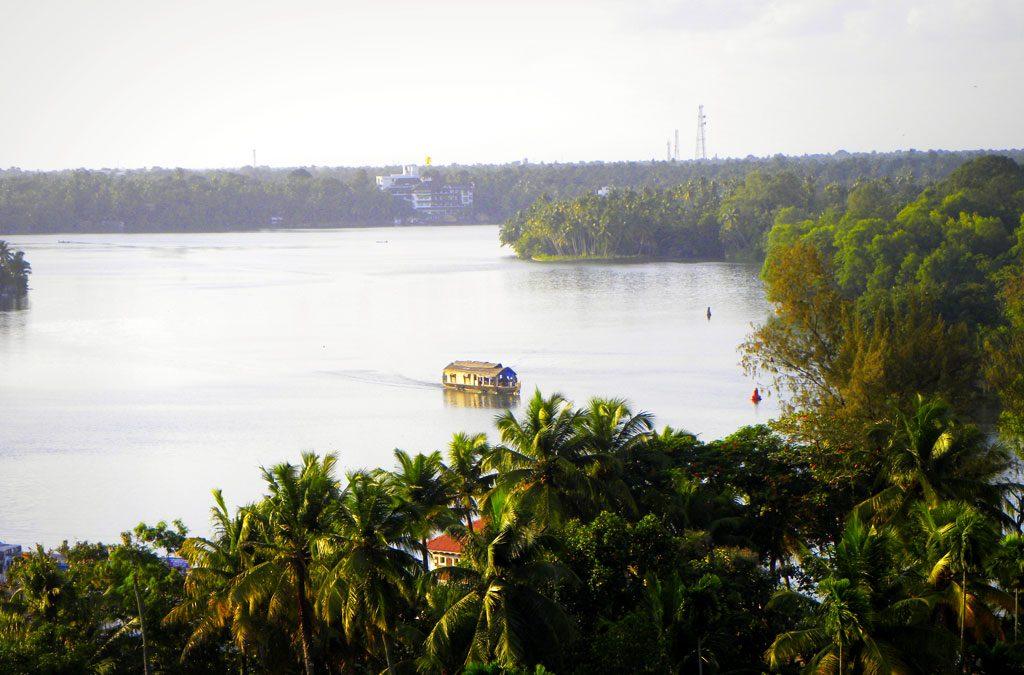 Top View Of The Ashtamudi Backwaters
