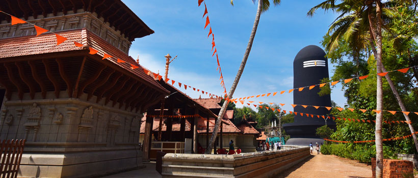 A majestic view of Chenkal Maheswaram Siva Parvathy Temple in Trivandrum, Kerala