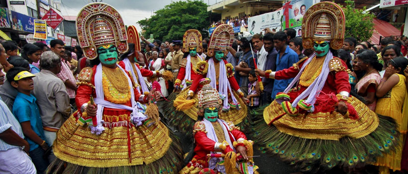 Athachamayam festival during Onam festival season in Kerala