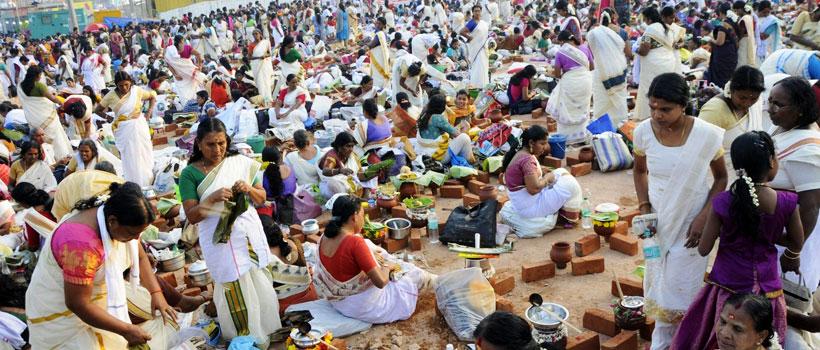 Attukal Pongala festival in Attukal Bhagavathi Temple, Thiruvananthapuram.
