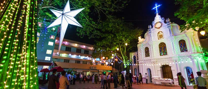 Christmas and New Year Mass in Kerala Churches