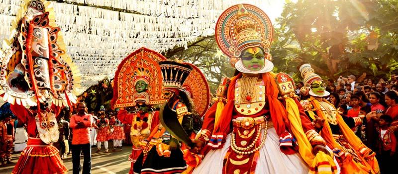 Traditional Kathakali Dance in Cochin Carnival