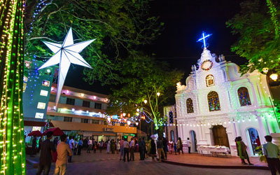 Christmas and New Year celebration in Kerala churches.
