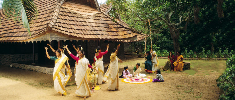 Kerala women Celebrating Onam festival
