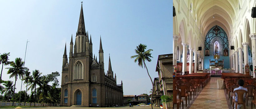 Immaculate Heart of Mary Cathedral in Kottayam, Kerala