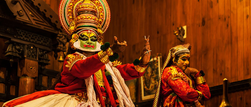 Kathakali perfomance in a stage