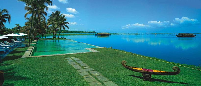 A beautiful view of Kumarakom backwaters from the Kumarakom resort