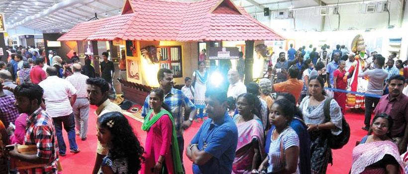 Traditional Kerala Style Nalukettu veedu in Kerala village fair