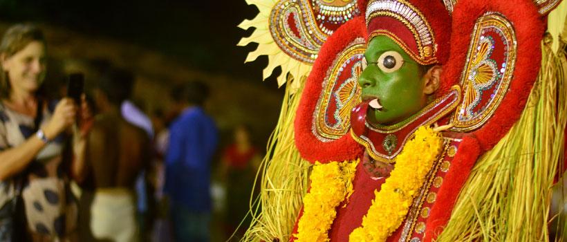 Theyyam performance at Kovalam Beach