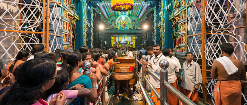 Inside of Attukal Bhagavathy Temple in Trivandrum