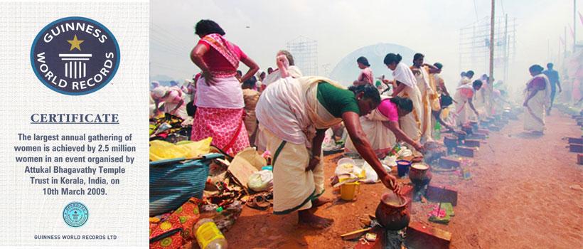 Unidentified devotees take part in the 'Pongala' ritual in Attukal Pongala Festival in Trivandrum, Kerala