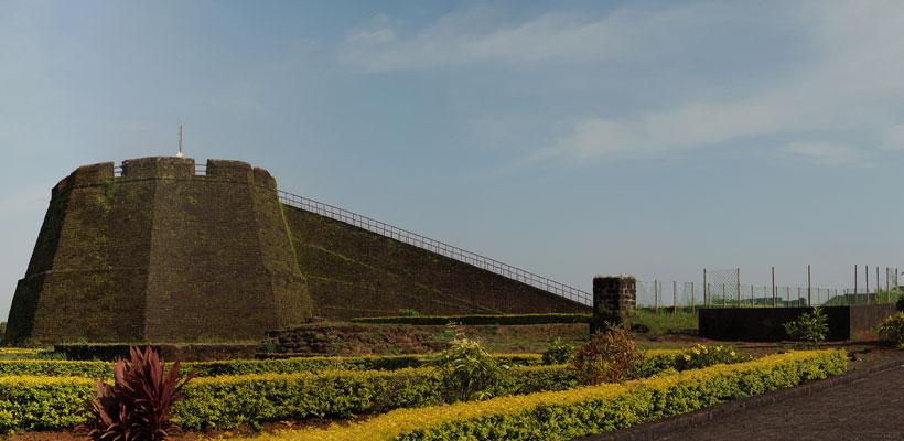 Bekal fort in Kasargod district of Kerala