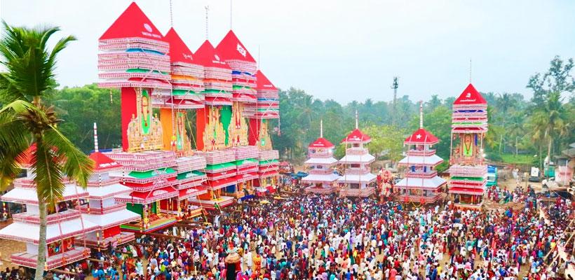 A glimpse of Chettikulanga Bharani Festival in Mavelikara, Alleppey