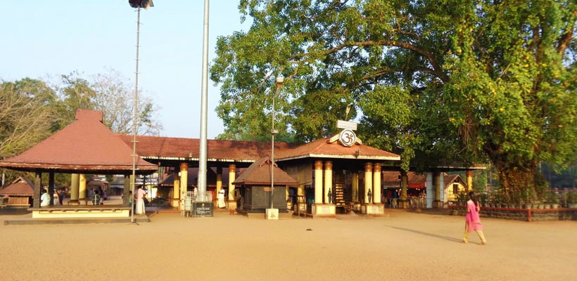 The facade of Chettikulangara Devi Temple in Mavelikara, Alleppey