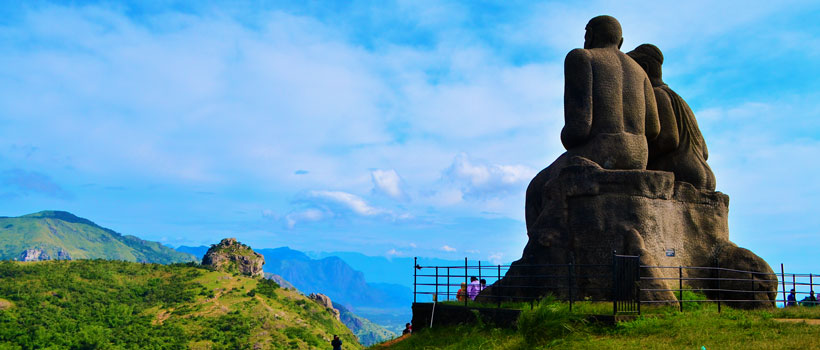 Statue of Kuruvan Kurathi, in Ramakalmedu hills, Idukki, Kerala