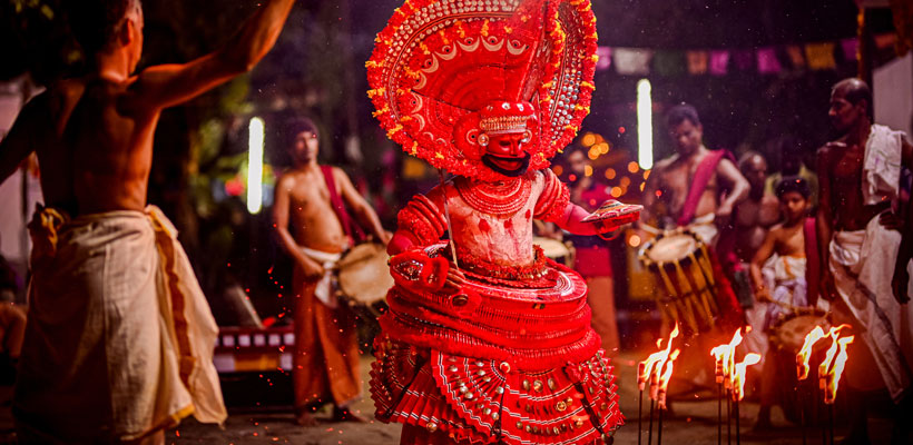 Theyyam performance in north Kerala