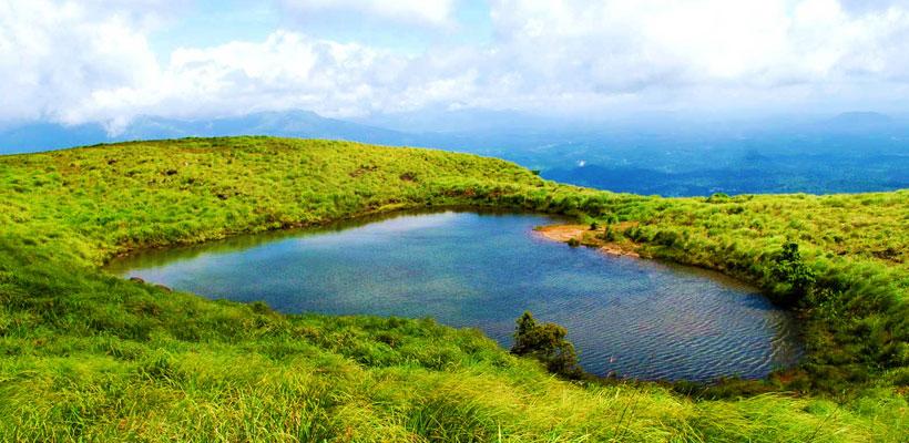 Heart shape lake in Wayanad