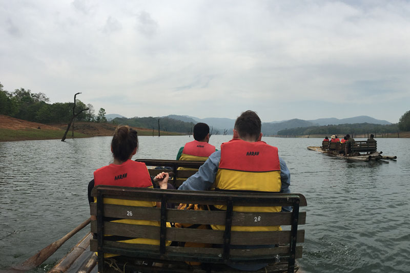 bamboo-rafting